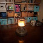 石油ストーブは明るい!震災時この灯りだけが唯一の頼みだった